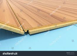 Installing Wood Laminate Flooring Installing Wooden Laminate Flooring Insulation Soundproofing Stock