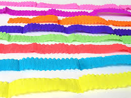 paper ribbon crepe paper ribbons streamers craftsupply scrap booking party