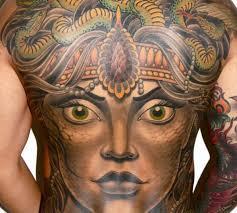 tattoo back face 17 cool medusa tattoos art gallery