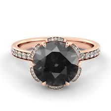 black diamond wedding ring 1 1 2 carat black diamond engagement ring flower black
