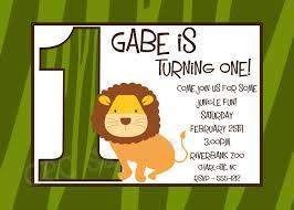 lion safari birthday invitations printable or printed
