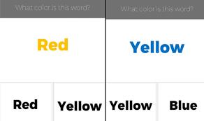 left side brain colour test