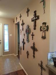 decorative crosses for wall wall of crosses i like the idea of adding frames around some of
