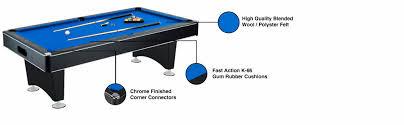 amazon com hathaway hustler 7 u0027 8 u0027 pool table with blue felt