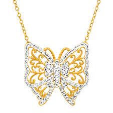 swarovski gold necklace crystals images Crystaluxe butterfly necklace with swarovski crystals in 18k gold jpg