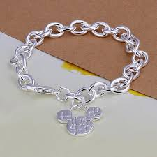 silver plated bracelet chain images Mouse bracelet 925 silver plated bangle adventures in wanderlust jpg