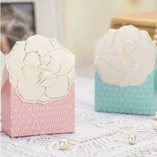 cookie party supplies 50pcs lot flower pattern design sweet candy box wedding