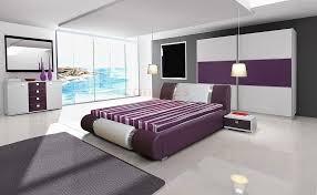 deco chambre violet déco intérieur pourpre gris idees chambre des maitres chambre