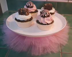 tutu decorations for baby shower tutu cake stand princess pink tulle cake plate cupcake platter