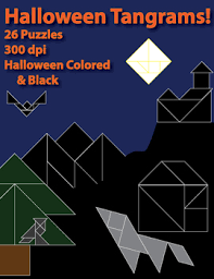 halloween tangrams 26 puzzles by z is for zebra tpt