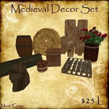 Medieval Decorations Second Life Marketplace Medieval Decor Set For Decorating Tavern