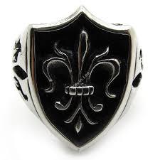 aliexpress buy new arrival cool charm vintage online shop vintage biker fleur de lis royal badge ring for