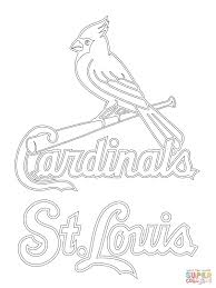 st louis cardinals logo coloring page free printable coloring pages