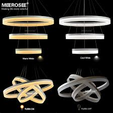 Lighting Lamps Chandeliers New Led Chandelier Light Fitting Modern Led Ring Suspension Drop