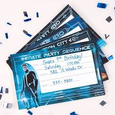 tron party invitations party invitations birthdays boy birthday