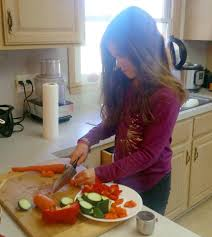Cooking Preparation Moving Vegetables On by 4 Steps To Mastering Safe Kitchen Skills With Kids Plus A Break