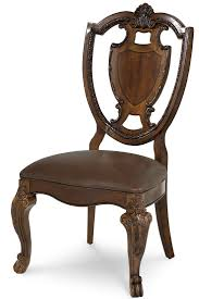 shield back dining room chairs old world double pedestal extendable dining room set from art