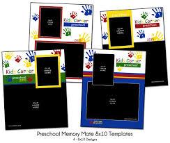 handprint preschool memory mate preschool photo templates