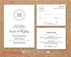 wedding invitations with response cards included free card design