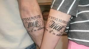 couples anniversary tattoo tats pinterest anniversary tattoo