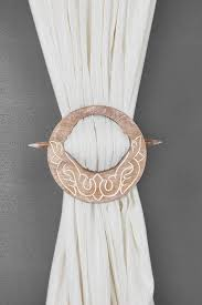 Drape Store Amazon Com Store Indya Decorative Wooden Curtain Tiebacks Set Of