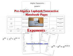 4th grade thanksgiving worksheets prealgebra u2013 exponents worksheet and interactive notebook pieces