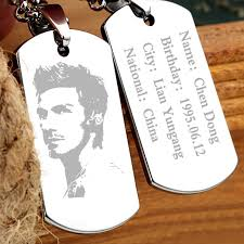 Personalized Dog Tag Necklaces Free Engrave Photo Custom Dog Tag Pendant Necklace Hiphop Man