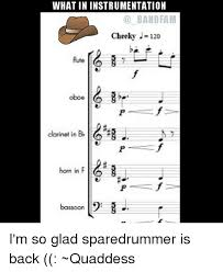 Flute Memes - what in instrumentation band fam cheeky 120 flute oboe p f