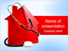 stethoscope and house powerpoint template u0026 backgrounds id