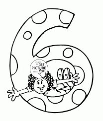 6th birthday coloring page for kids holiday coloring pages
