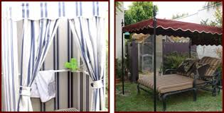 Outdoor Cabana Curtains Custom Outdoor Cabanas With Sunbrella Privacy Curtains Riverside