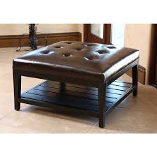 square leather coffee table chase cocktail ottoman square luxe home company in leather coffee