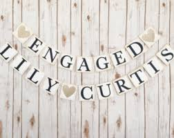 congratulations engagement banner engagement banner etsy