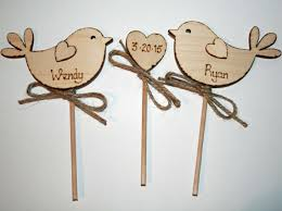 personalised rustic wedding cake topper bird cake topper rustic