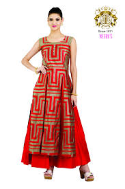 redcolor neerus red color anarkali suit ready to wear women