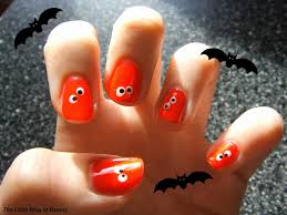 halloween nail art we u0027re watching you the little blog of beauty
