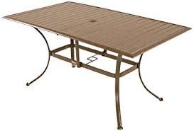 Rectangle Patio Table Panama Outdoor Island Slatted Aluminum