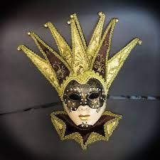 jester mask womens venetian fabric embroidery masquerade theater jester mask