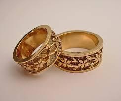 gold bands wedding engagement rings southwest wedding rings turquoise