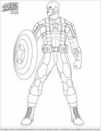 Captain America Coloring Picture Captain America Coloring Page