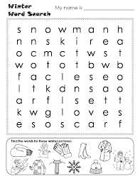 14 free printable winter word searches kitty baby love