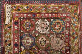 signed and dated 1888 antique armenian moghan kazak rug fragment