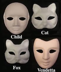 unpainted masks 12 x papier masks paper mache mask unpainted masks plain