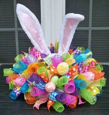 mesh ribbon ideas the best diy project easter craft ideas kitchen