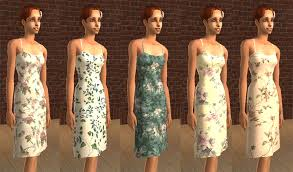 chic clothing mod the sims floral dresses sim chic mesh my clothing