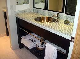 Diy Vanity Top Captivating Bathroom Decor Vanity Glass Tile Counter Top Bathrooms