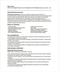 Expert Resume Digital Marketing Specialist Cover Letter