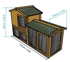 Rabbit Hutch Plans 4 82 Ft Large New Indoor Outdoor Wooden Rabbit Hutch Cage House