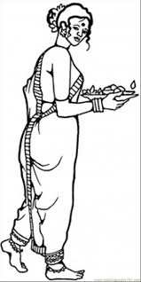 coloring pages of wonder woman national cloting of indian woman coloring page free india