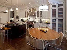 White Round Kitchen Table by White Kitchen Cabinets Purple Pendant Lights Panel Fridge Range